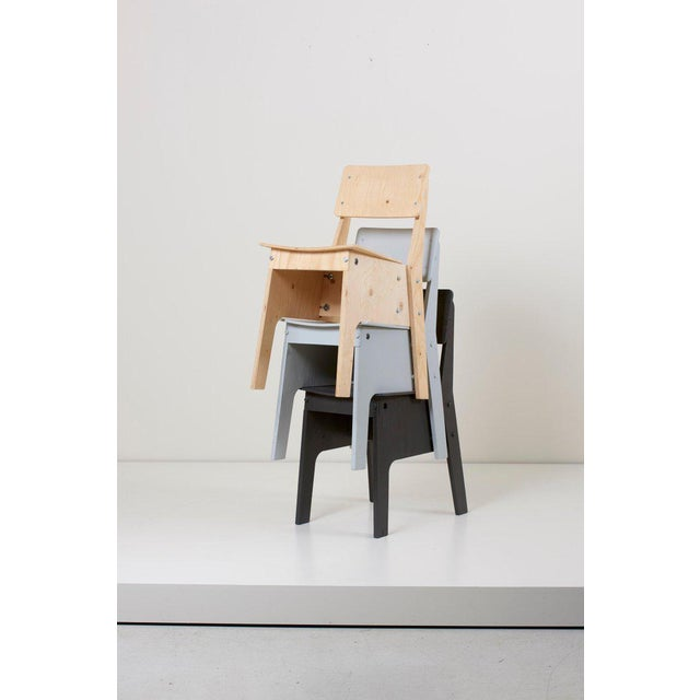 1 of 3 Crisis Chairs by Piet Hein Eek in Plywood For Sale - Image 6 of 13