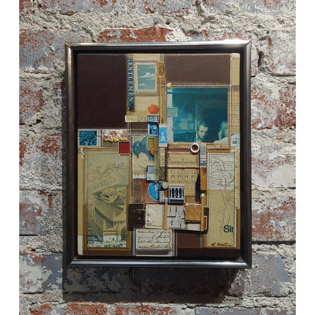 Drypoint Roderick Slater -One to Nine - Mixed Media Collage Painting For Sale - Image 7 of 7