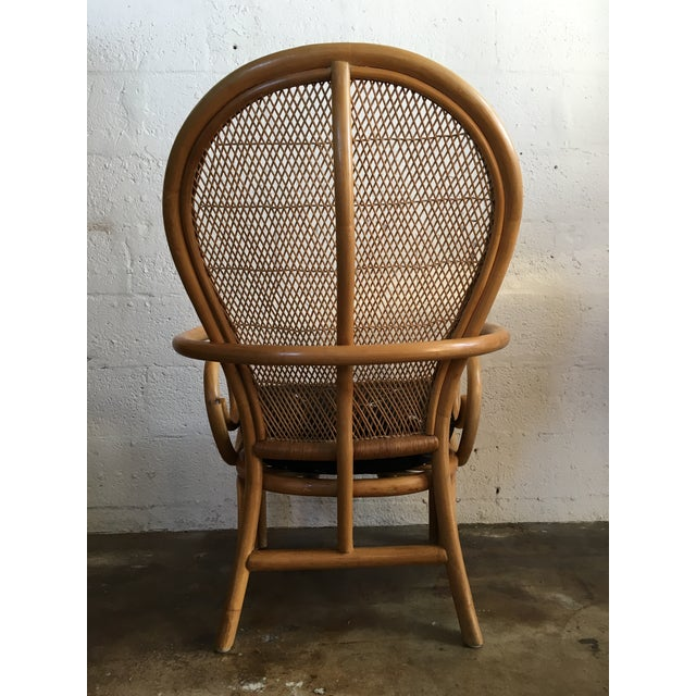 Mid-Century Modern Vintage Mid Century Modern Bamboo Rattan Accent Chair. For Sale - Image 3 of 8