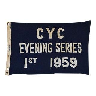 Vintage 1959 Cleveland Yacht Club Trophy Flag
