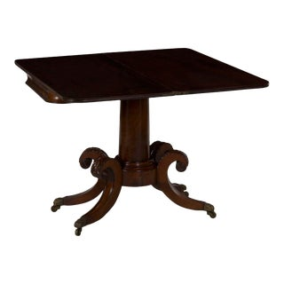 19th Century American Classical Antique Card Game Table Circa 1830-50 For Sale