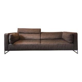 Ligne Roset Modern Brown Upholstered Sofa