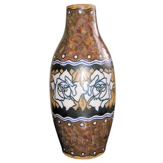 1930s Boch Stoneware Vase For Sale