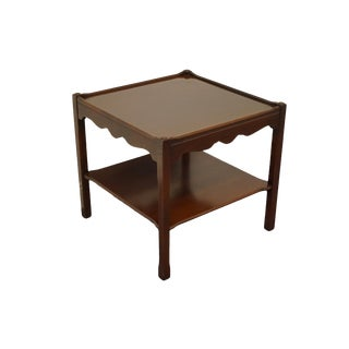 """Statton Italian Provincial Solid Walnut 24"""" Square Accent End Table 601-06 For Sale"""