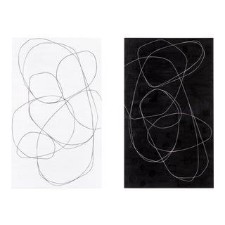 "Maura Segal, ""Ink + Paper"" Diptych For Sale"