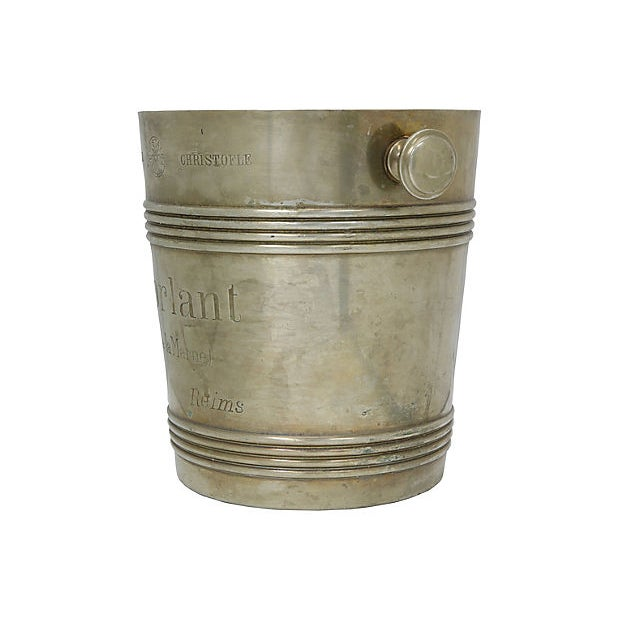 1940s Rare 1940s Christofle Morlant Bistro Champagne Bucket For Sale - Image 5 of 7