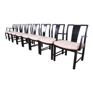 Michael Taylor for Baker Furniture Ebonized Dining Chairs - Set of 8 For Sale