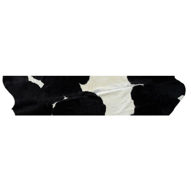 "Brazilian Black & White Cowhide Rug - 7'1"" x 7'3"" - Image 2 of 2"