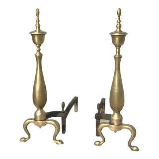 American Ferderal Andirons or Firedogs - a Pair For Sale