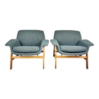 1960s Italian Gianfranco Frattini Armchairs - a Pair For Sale