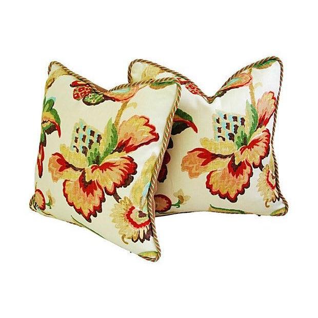 Designer Schumacher Kelmscott Manor Pillows - Pair - Image 6 of 7
