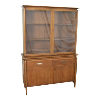 Drexel Projection Mid century Modern Walnut China Cabinet