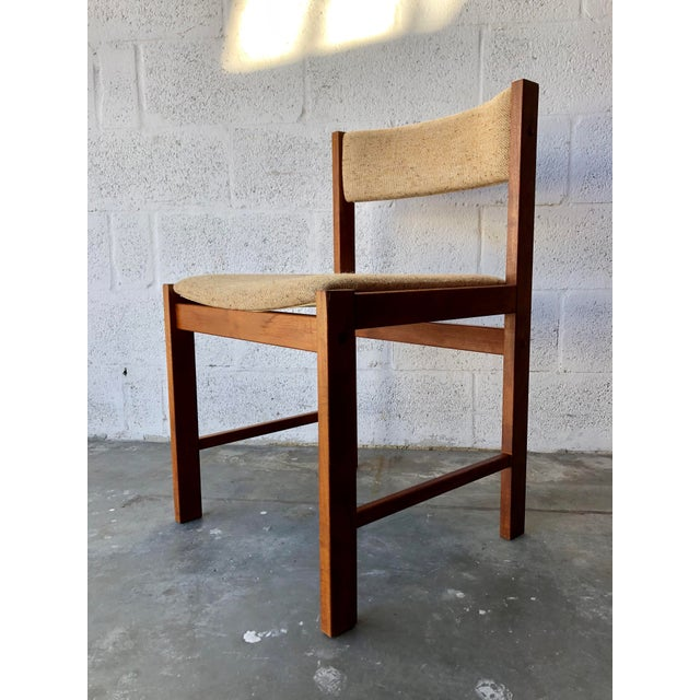 Brown Vintage Mid Century Danish Modern Style Dining Chairs (Set of Four) For Sale - Image 8 of 13