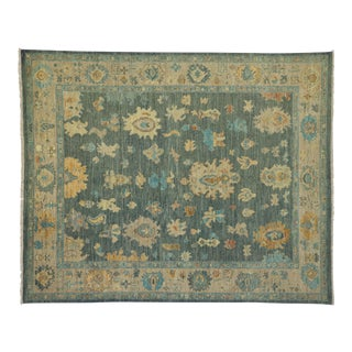 Contemporary Colorful Oushak Rug- 8'4 X 10'2 For Sale