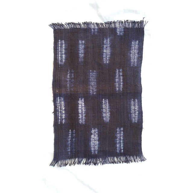 Boho Chic Homespun Indigo Place Mats - Set of 6 For Sale - Image 3 of 6