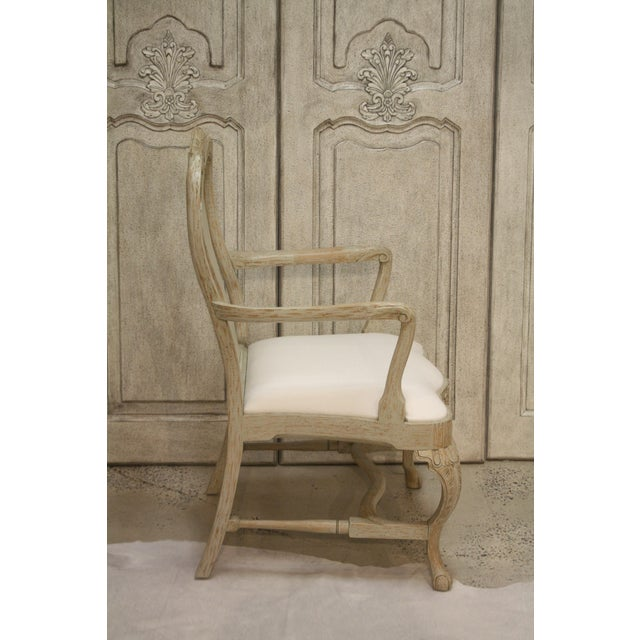 Traditional Swedish Rococo Dining Armchair For Sale - Image 3 of 7