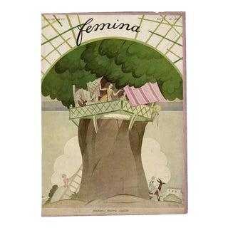 """Femina, July 1922"" Original Vintage French Magazine Cover. Very Rare!! For Sale"