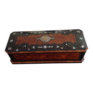 1880 Antique English Glove Box For Sale