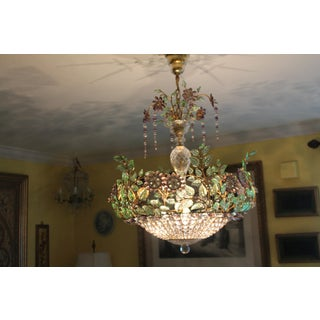 French Maison Bagues Amethyst/ Verde/ Crystal/ Petals and Diamonds 6 Light Chandelier Preview