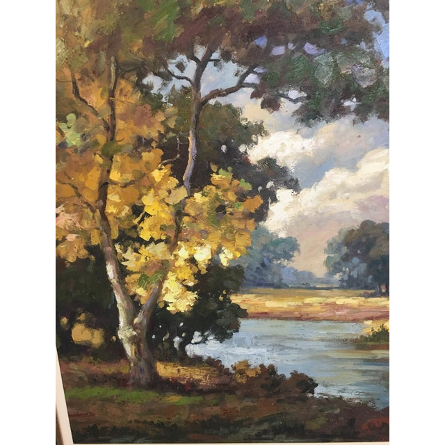 Late 20th Century Oil on Canvas Landscape Painting For Sale - Image 4 of 10