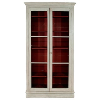 French Napoleon III White Painted Bookcase For Sale