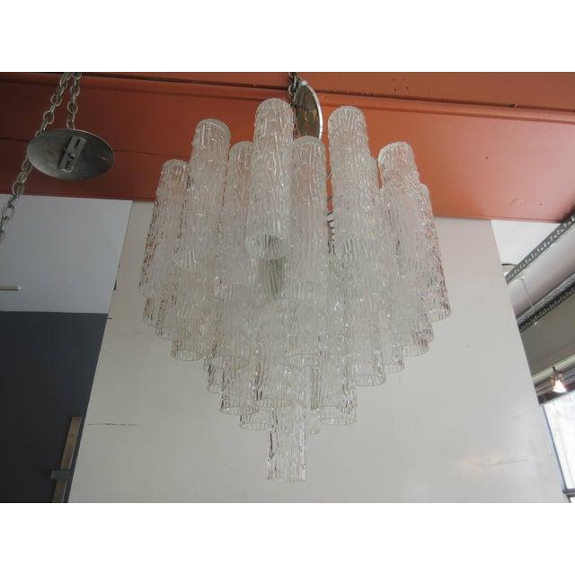 "Venini ""Tronchi"" 40 Crystal Chandelier For Sale In Philadelphia - Image 6 of 8"