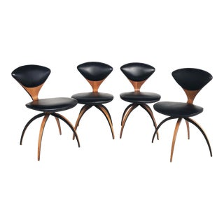 Norman Cherner Plycraft Bentwood Swivel Chairs, 1964-Set of 4 For Sale