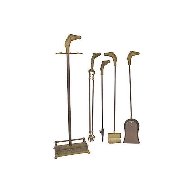 English Traditional 1950s Equestrian Fireplace Kit, 5 Pcs For Sale - Image 3 of 5