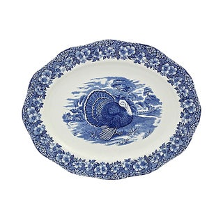 Large Vintage Wedgwood Turkey Platter For Sale