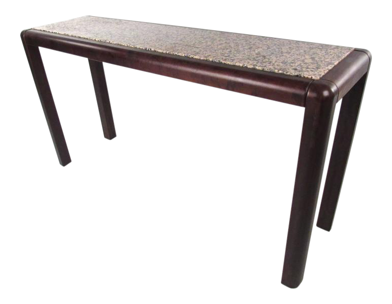 Contemporary Modern Marble Top Console Table For Sale