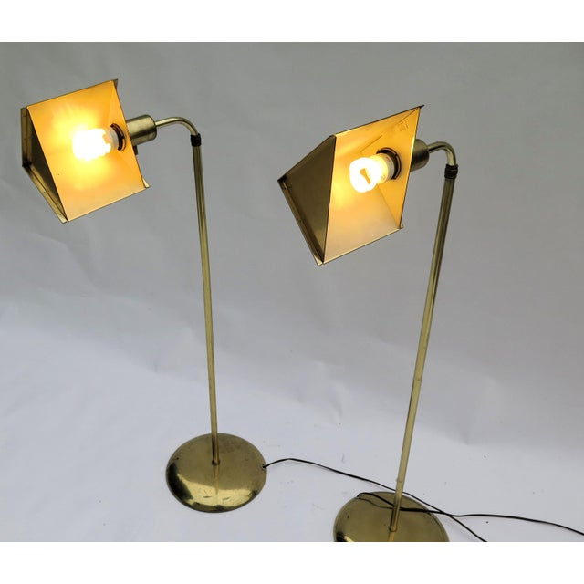 Cedric Hartman style brass adjustable floor lamps. Not only the shade is adjustable but so too is the height. Height...