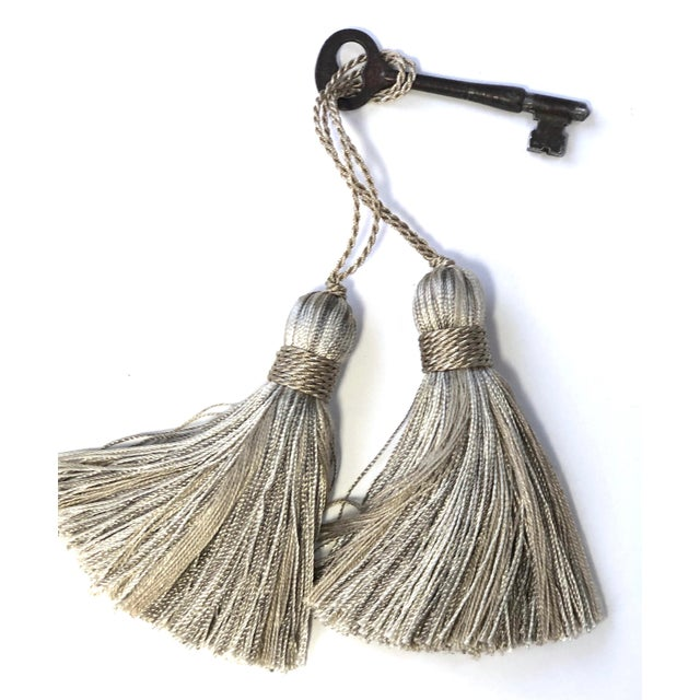 Petite Natural Color Tassels - a Pair For Sale - Image 10 of 10