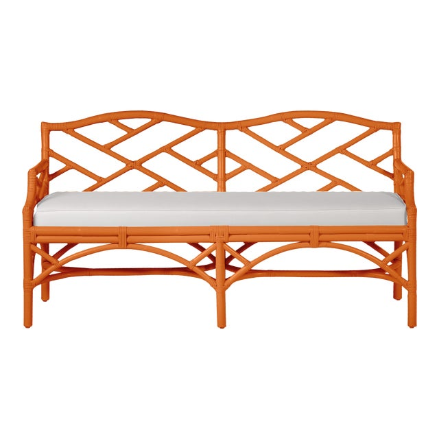 Chippendale Bench - Orange For Sale