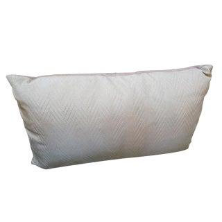 Vintage Herringbone Pale Pink Pillow For Sale