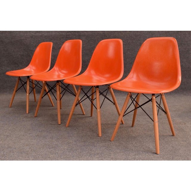 1960s Vintage Fiberglass Charles Eames for Herman Miller Chairs - Set of 4 For Sale - Image 5 of 10