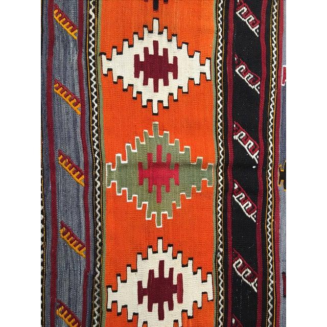 Vintage Turkish Kilim Rug - 6′2″ × 11′3″ - Image 6 of 10