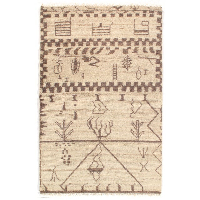 2010s Pasargad N Y Moroccan Hand-Knotted Rug - 4' X 6′ For Sale - Image 5 of 5