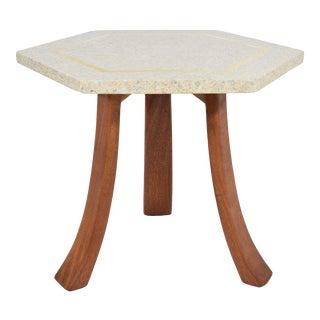 Harvey Probber Hexagonal Terrazzo Side Table For Sale