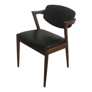 Mid-Century Modern Kai Kristiansen Refinished Rosewood Dining Chair For Sale