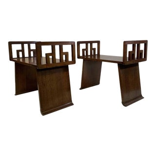 Pair of Benches in the Manner of Paul Frankl For Sale
