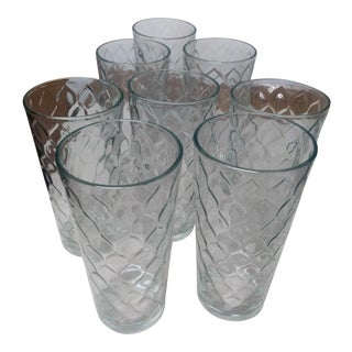 Anchor Hocking Diamond Pattern Glasses - Set of 8