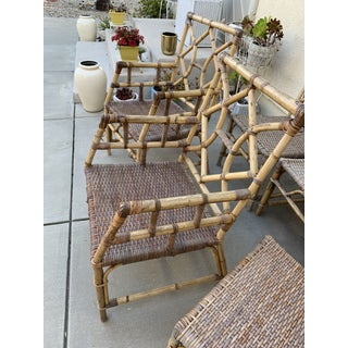 Boho Midcentury Bamboo Rattan Chairs, Set of Six Preview
