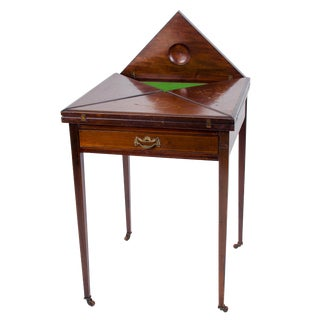 Edwardian Envelope Game Table For Sale