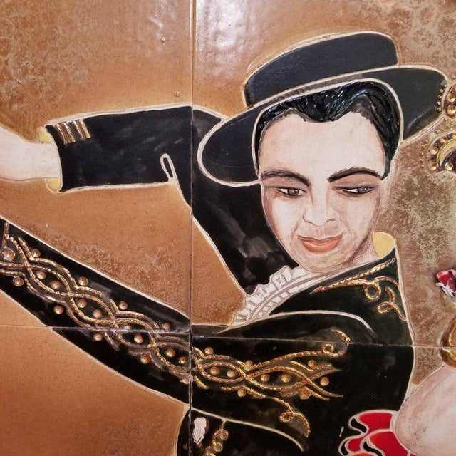 1955 Tango Dancers Wall Tile For Sale In Sacramento - Image 6 of 11