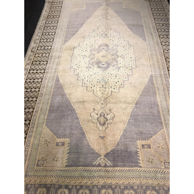 "Vintage Bellwether Rugs Turkish Oushak Rug - 5'6""x9'11"" - Image 3 of 9"