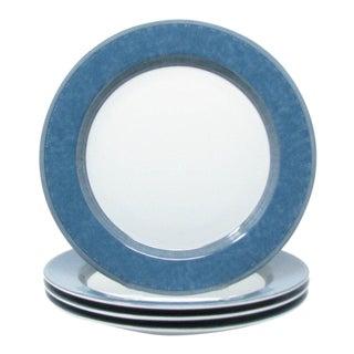 Vintage Dansk Gridworks Blue Dinner Plates - Set of 4 For Sale