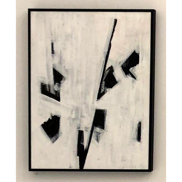 """Ilana Greenberg """"Fragments"""" Abstract Acrylic Framed Painting For Sale - Image 4 of 4"""