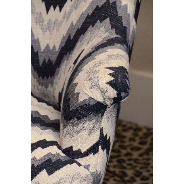 Gray Chevron Napoleon-Style Chair - Image 7 of 8