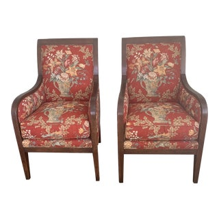 Baker Milling Road Oval Back Chairs - a Pair For Sale