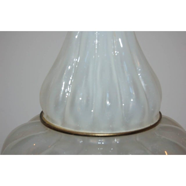 Marbro Murano Opaline Glass Table Lamps White For Sale In Little Rock - Image 6 of 10